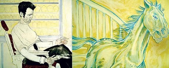 Work by Garen Shrader (left); work by  Joel Hilgenberg (right)
