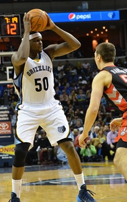 Zach Randolph carried the team down the stretch, pulling out his full arsenal of tricks to get the Grizzlies the win. - LARRY KUZNIEWSKI