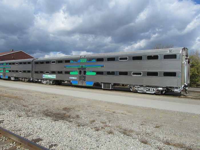 A passenger car for the proposed Ann Arbor-to-Detroit commuter rail project, which would include five stops in Ann Arbor, Ypsilanti, Detroit-Metro Airport, Dearborn and Detroit. - COURTESY OF SEMCOG