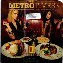 "A reader mailed us this Metro Times cover they found with a sticker protesting the ""misogynistic Neo-Liberal tabloid."""