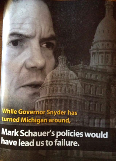"""An ad about failure a fail itself? Yes. The conditional perfect was ruined by a common misspelling of the simple past form of """"to lead."""" - PAID FOR BY THE MICHIGAN REPUBLICAN PARTY"""