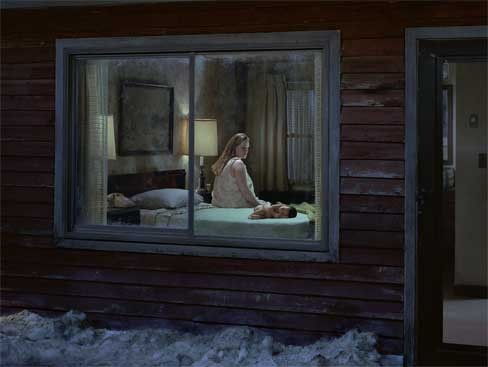 """Untitled (Birth)"" from Beneath the Roses, - the body of photographs in Gregory Crewdson: Brief Encounters."