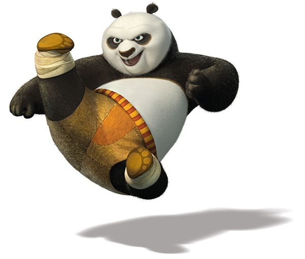 Art imitates life: Jack Black is Po in Kung Fu Panda 2.