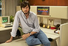 Ashton Kutcher plays a mogul in mom jeans in Jobs.