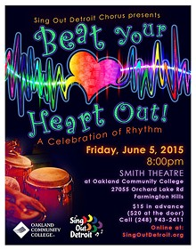 JULIE KING, GRAPHIC DESIGNER - Beat Your Heart Out! A Celebration of Rhythm