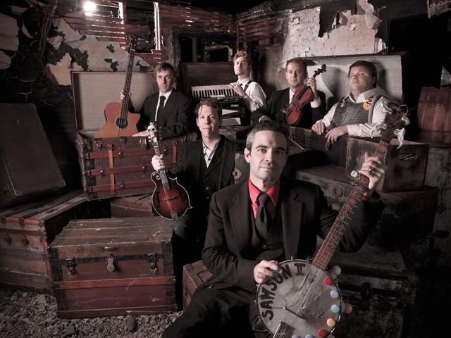 Black Jake and the Carnies: (clockwise from top) Miller, Wallace, LaLonde, Black Jake, Pollock and Cooter.