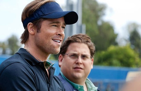 Brad Pitt, left, and Jonah Hill: Moneyball is - not a sports movie.