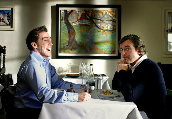 Brydon (left) and Coogan: a couple of blokes one-upping one another.