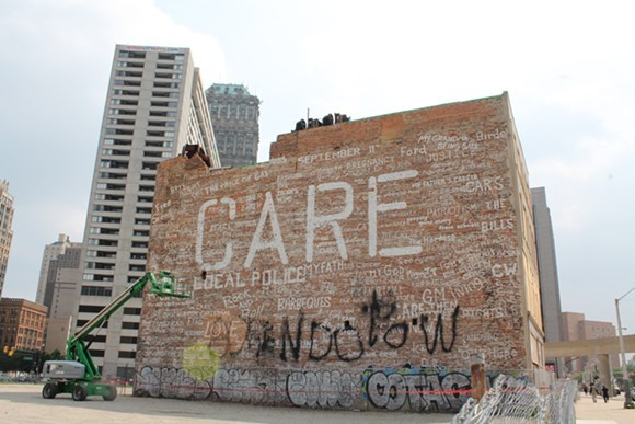 The 'Care' building was demolished after a circuit court judge ruled it was a public nuisance. - RYAN FELTON/METRO TIMES