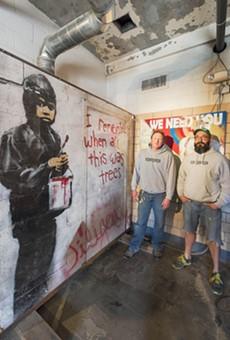 Carl Goines (left) and Erik Garant of 555 Gallery.