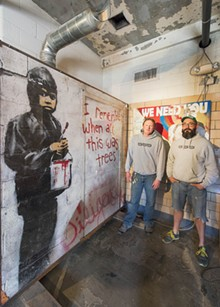 PHOTO BY DOUG COOMBE. - Carl Goines (left) and Erik Garant of 555 Gallery.