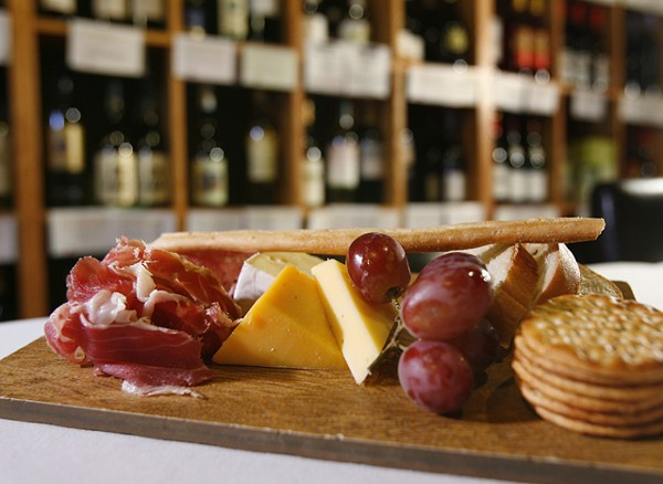 Cheese board from Kitchen Sync (at Wine Sync) in Northville. - MT PHOTO: ROB WIDDIS