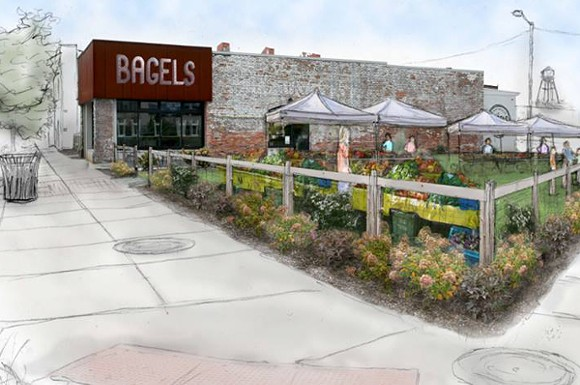 ARTISTS RENDERING OF THE CORKTOWN FARMERS MARKET