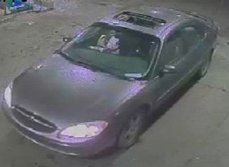 Late '90s Ford Taurus with a temporary tag that, according to Detroit police, Mikayla Champion was last seen in Thursday night. - DETROIT POLICE