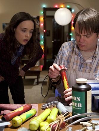 Ellen Page and Rainn Wilson mix it up in Super.