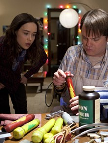 Ellen Page and Rainn Wilson mix it up in Super.