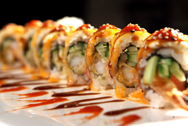 Firecracker Roll from Xushi Ko Hibachi Grille and Sushi Bar in Dearborn.