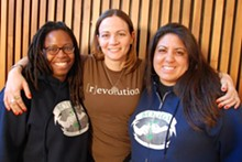 From left to right, Boggs School teachers: - Julia Putnam; Amanda Rosman; Marisol Teachworth