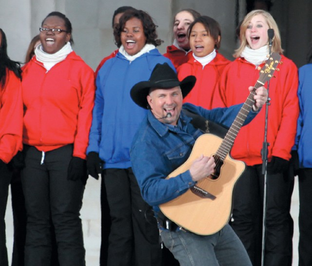 "Garth Brooks singing ""American Pie"" at Obama's inauguration. Should his songs help the Romney campaign target voters? For the record, he re-endorsed Obama last year. - STEVE JURVETSON"