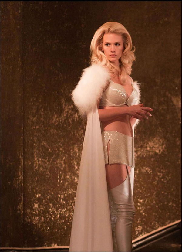 Get the lead out: Mad Men hottie January Jones in X-Men: First Class.