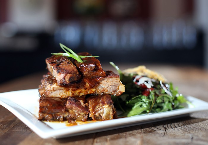 Half slab of ribs from Craft Work in Detroit. - ROB WIDDIS.
