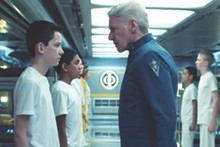 Harrison Ford plays Colonel Graff, who sees a young version of himself in young recruit Ender Wiggin (Asa Butterfield) in this sci-fi flick.