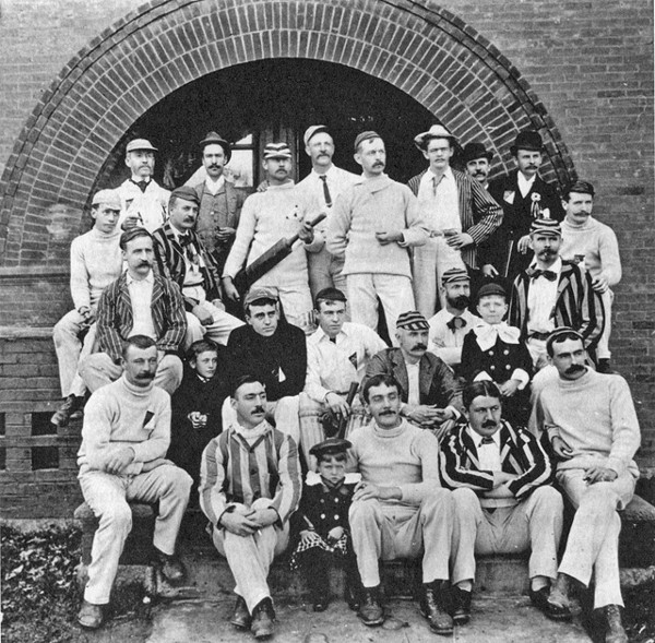 Herd of hipsters? No, it's a 19th century cricket team from this year's book about the Detroit Athletic Club