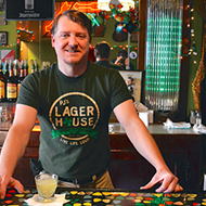 Hot Shotz: PJ's Lager House bartender pours us a 'Blue Steel'