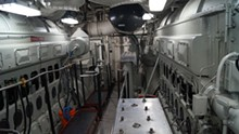 COURTESY PHOTO. - Inside the ship's hulking engine room.