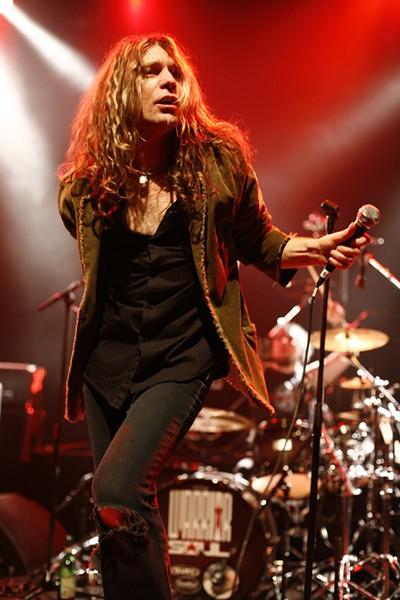 Jesus hair: Kory Clarke recently fronting Warrior Soul.