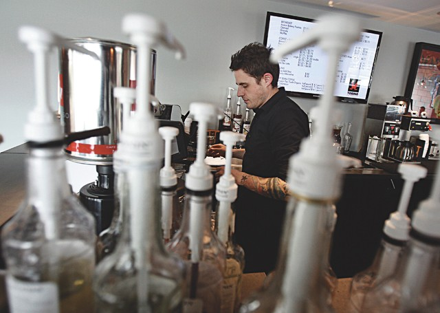Jim Culliton prepares an espresso at Torino Espresso + Bar in Ferndale.