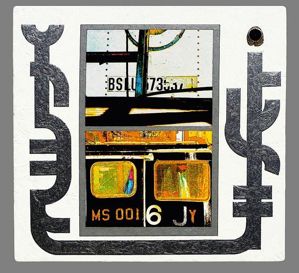 """Joseph Bernard's """"Signifier of Light"""" (2010), like a maverick TV screen."""
