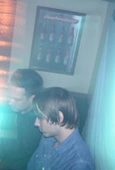 Justin Carver and Daniel Stolarski DJ Something Cold at Nancy Whiskey .