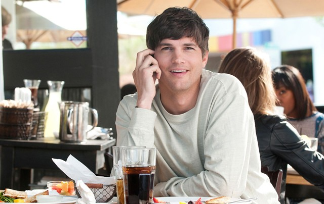 Kutcher: Mobile phone ad or movie still? You make the call.