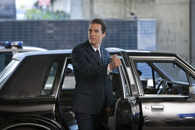 Loveable sleaze: McConaughey and perfect skin in The Lincoln Lawyer.