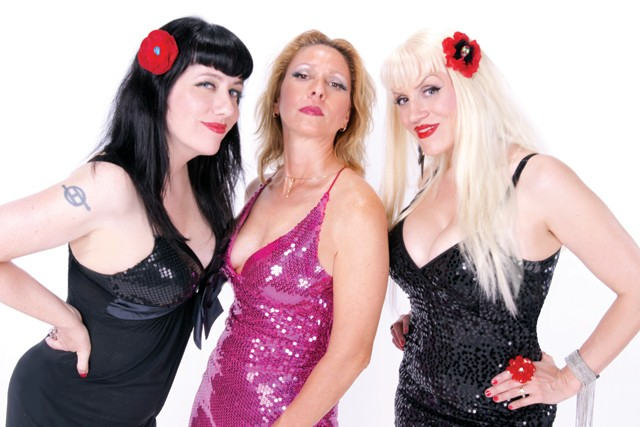 """Lynda Mandolyn, Cathy Carrell and Karen """"Queen Bee"""" Neal, collectively known as Inside Out."""