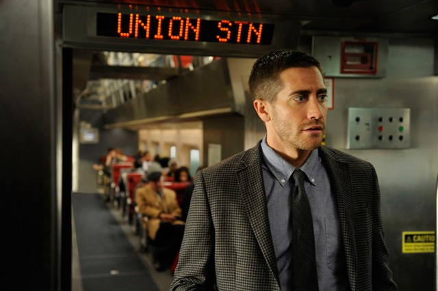 Man on an exploding train: Gyllenhaal in Source Code.