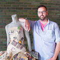 Matthew Richmond makes dresses out of old newspapers — including Metro Times