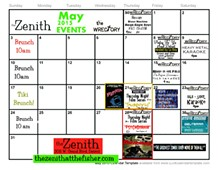 May events at Zenith
