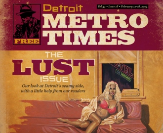 PAINTING FOR METRO TIMES BY SLAW.