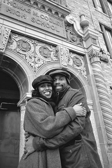 Nicole Pitts (left) and LaMar Williams (right) were profiled in an MT story last fall about their efforts to purchase Cooley High School. - PHOTO BY MARIUCA ROFICK