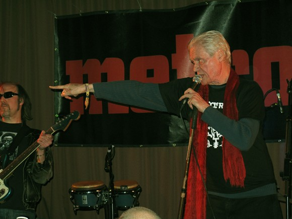 Kim Fowley, right, performs with Matthew Smith at the 2012 Blowout. - CARY LOREN
