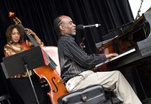 O'Neal with bassist Marion Hayden, who praises him as a walking history of the music. The music was handed to him personally by greats like Ray Brown, Milt Jackson and Art Blakey. - ARA HOWRANI