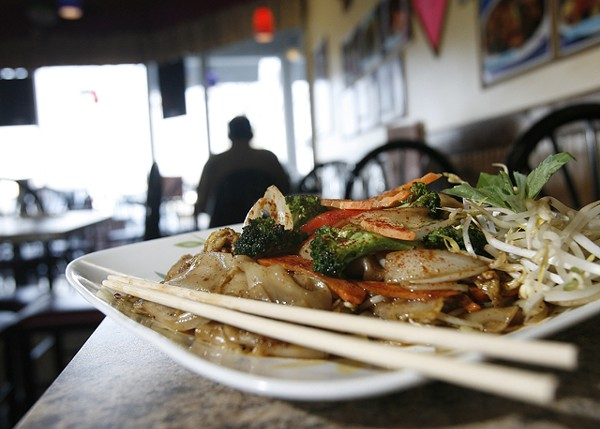 Pad Thai chili from Thai Taste in Troy. - MT PHOTO: ROB WIDDIS