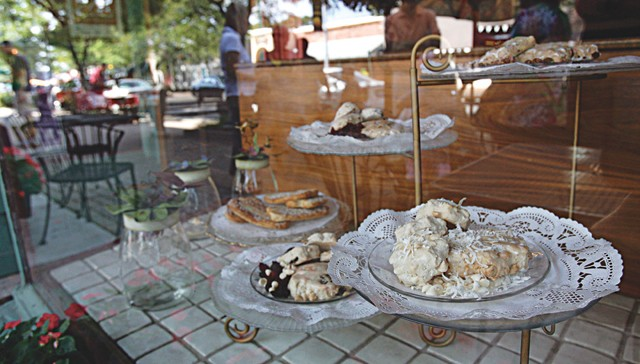 Pastries in the window of Fou d'Amour in Grosse Pointe Park.