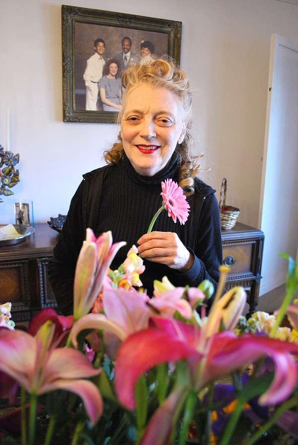 Patricia Duff inside her home flower shop. - PHOTO: DETROITBLOGGER JOHN