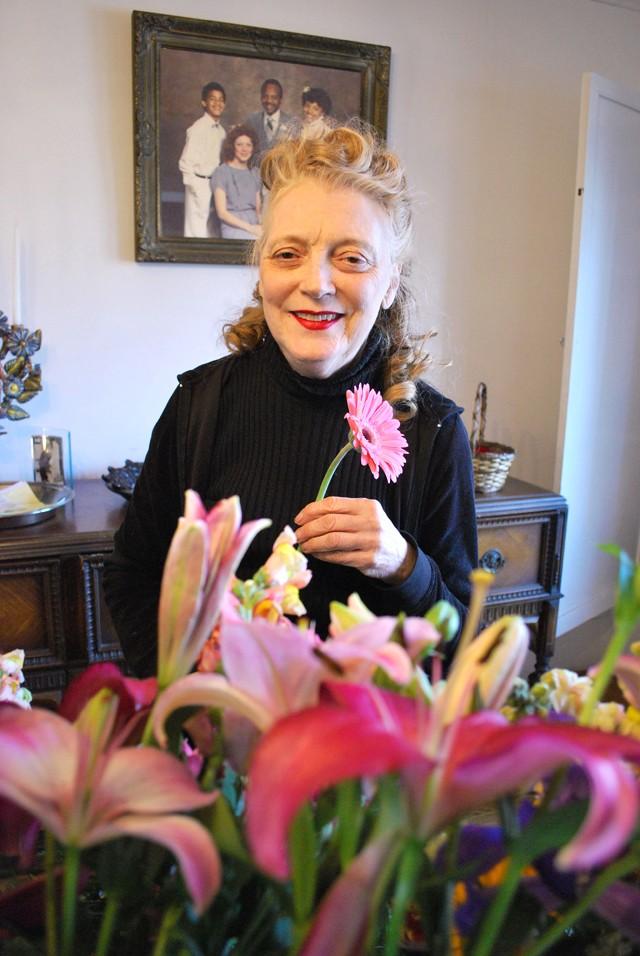Patricia Duff inside her home flower shop. - PHOTO: DETROITBLOGGER JOHN