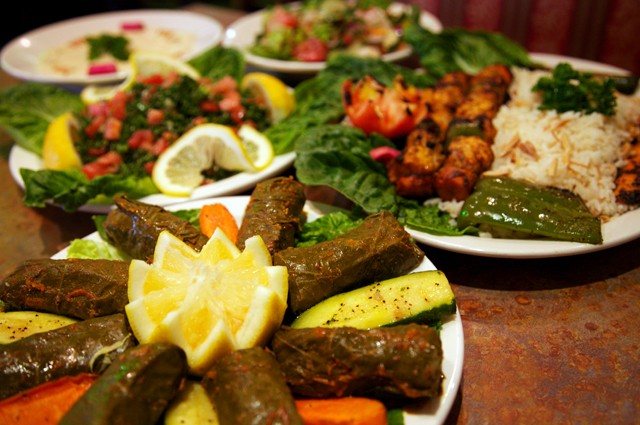Plates of bounty abound at Dearborn's newly reopened La Shish. - MT PHOTO: HASSAAN BEY
