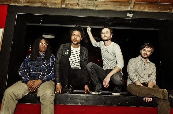 Quickly now (from left): Zenas Jackson, Justin Walker, Jamie Bernstein, Derek Szubeczak.