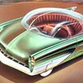 Rare classic car concept art on display at Lawrence Tech